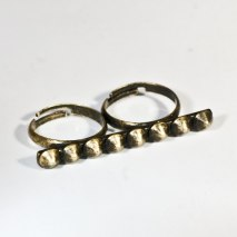 Double Ring Spikes Bronze
