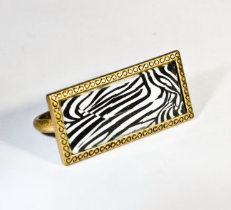 Double Ring Zebra Pink