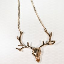 Deer Necklace Gold