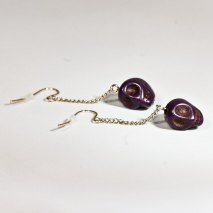 Crazy Skull Earrings Purple