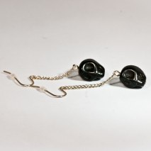 Crazy Skull Earrings Black