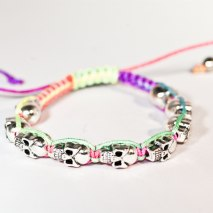 Cute Skulls Bracelet Black Multi