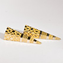 Crazy Spike Earrings Gold/Yellow