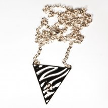 Zebra Necklace Gold