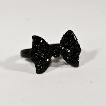 Cute Bow Ring Black