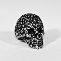 Sugar Skull Ring Grey