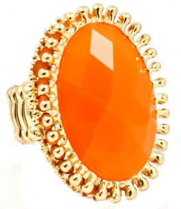 Maffig orange/guld ring