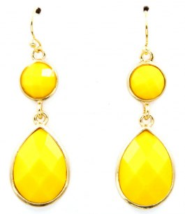 Örhängen - Drops - Yellow