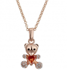 Halsband rosguld - Teddy Bear Swarovski