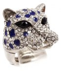 Leo Luxury Ring AAA-Rhinestones (Silver/Blue)