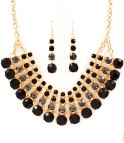STATEMENT BLACK/GOLD RHINESTONE