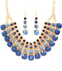 STATEMENT BLUE/GOLD RHINESTONE