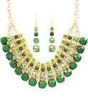 STATEMENT GREEN/GOLD RHINESTONE