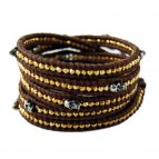Wrap Skull (Gold/Brown) Fine leather Himalaya Collection