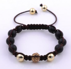 Swarovski Makramé Brown Luxury 18K