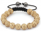 Swarovskiarmband Champange/Gold 