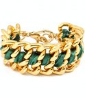 Armband - Le chain - Grn /Guld
