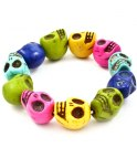 Ddskallearmband Multicolor 12 mm 