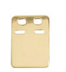 ID bricka / Gravyrbricka guld 18k 12 x 19 mm 