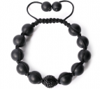 Armband Unisex Matt/Black Crystal 12 MM