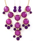 Bubble Necklace Purple set