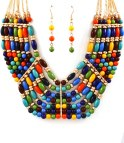 Multicolor halsband 