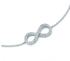 Infinity Love bracelet - Cubic Zirkonia Rhodium plated